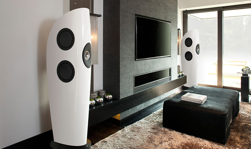 KEF Blade white pair Lifestyle large